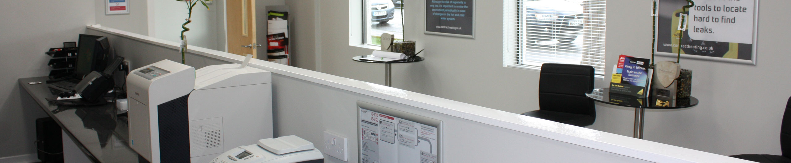 Contract Heating customer reception area